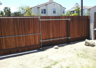 Custom fence built by AJM Construction Services, Fountain Valley CA