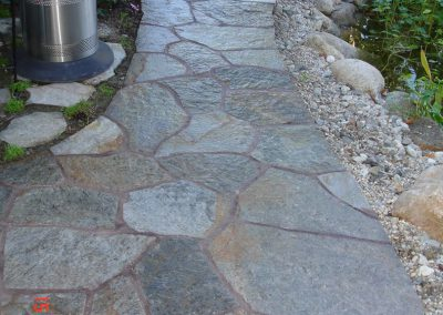 Flagstone walkway built by AJM Construction Services, Orange County, CA