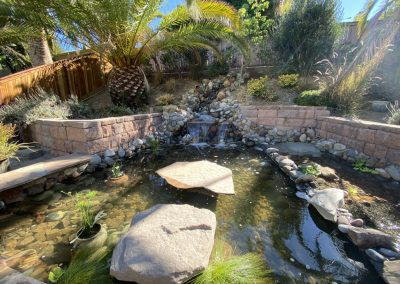 Temecula turtle pond with stream, waterfall, and wetland filter