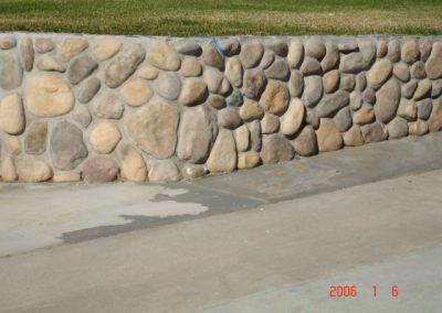 River rock ledgestone vaneer built by AJM Construction Services, Orange County CA